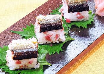 おむすび梅で作る棒寿司